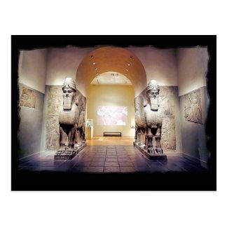 assyrian 2 bulls postcard