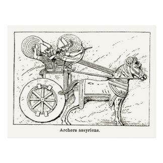 Assyrian Archers, vintage drawing 1890 Postcard
