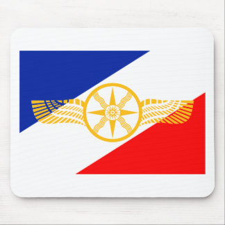 Assyrian Flag, Chaldean Flag, Syriac Flag (Union) Mouse Pad
