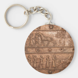 Assyrian Gate Basic Round Button Key Ring