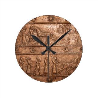 Assyrian Gate Round Clock