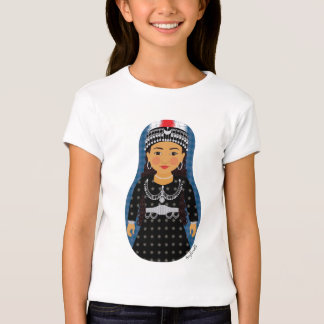 Assyrian Girl Matryoshka Girls Baby Doll (Fitted) T Shirt