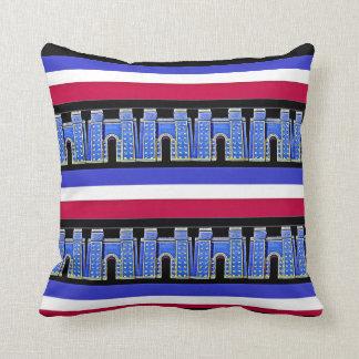 Assyrian Ishtar gate Throw Pillow1 بوابة عشتار Cushion
