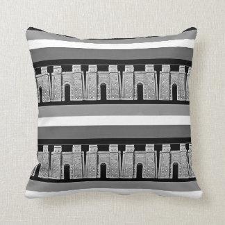 Assyrian Ishtar gate Throw Pillow2 بوابة عشتار Cushion