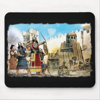 Assyrian king mouse pad