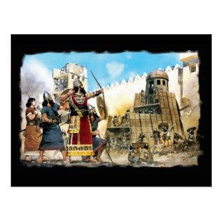 assyrian king postcard