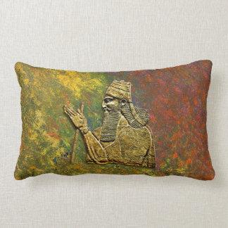 """Assyrian King Throw  Lumbar Pillow 13"""" x 21"""