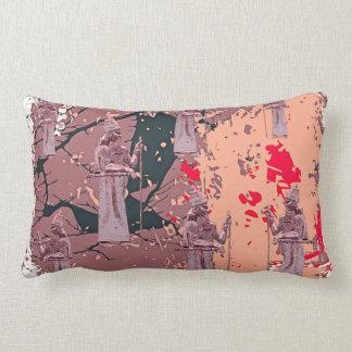 """Assyrian King Throw  Lumbar Pillow 13"""" x 21 Pink"""