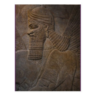 assyrian on the front postcard