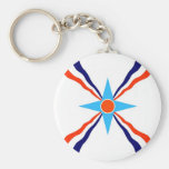 assyrian people ethnic flag key chains