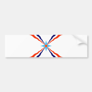 assyrian people flag bumper sticker
