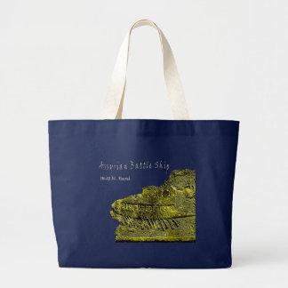 Assyrian Warship Large Tote Bag