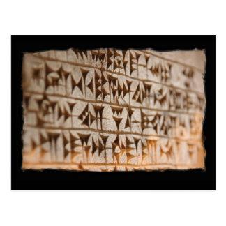 assyrian writing postcard