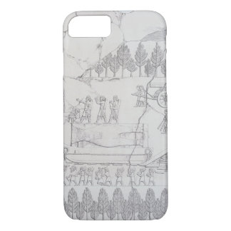 Assyrians moving a Winged Bull on a Sledge, from ' iPhone 7 Case