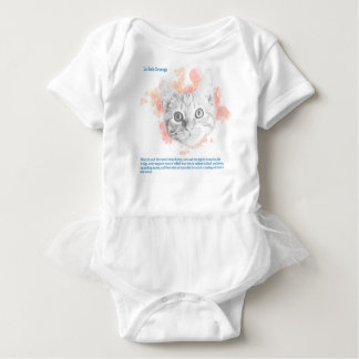Asta, Malcolm's Daemon from La Belle Sauvage Baby Bodysuit