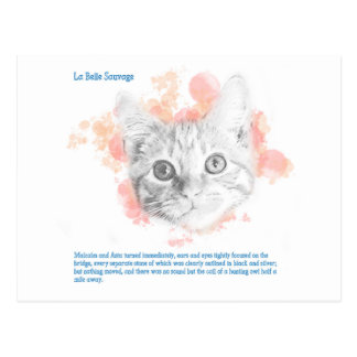 Asta, Malcolm's Daemon from La Belle Sauvage Postcard