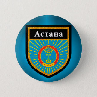 Astana Flag 6 Cm Round Badge