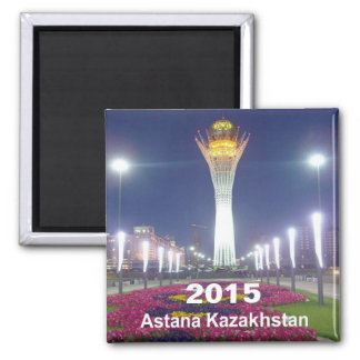 Astana Kazakhstan Travel Fridge Magnet Change Year