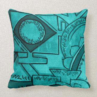Astar Turquoise Throw Pillow