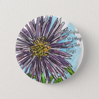 Aster 6 Cm Round Badge