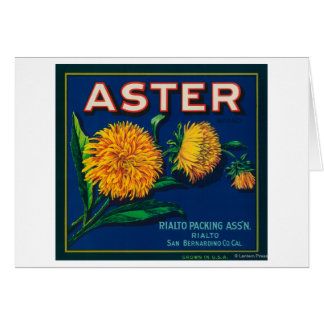 Aster Brand Citrus Crate Label Greeting Cards