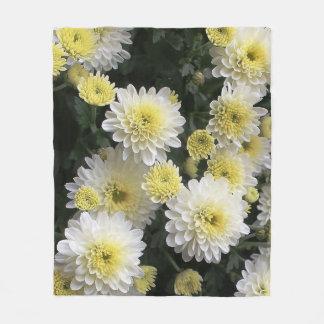 Aster Flowers Fleece Blanket