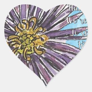 Aster Heart Sticker