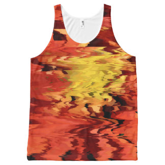 Aster in the Wind All-Over Print Singlet