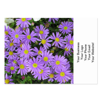 Aster Purple Yellow Green Business Cards