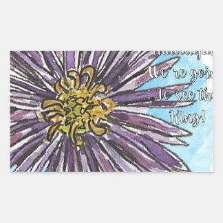 Aster Rectangular Sticker