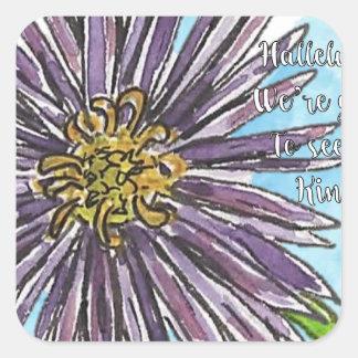 Aster Square Sticker