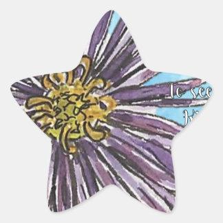 Aster Star Sticker