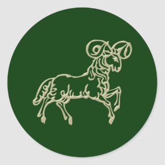 Asterisk Aries zodiac sign Aries Round Sticker