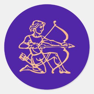 Asterisk contactor zodiac sign Sagittarius Round Sticker