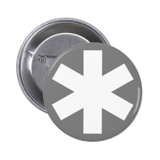 Asterisk - Gray 6 Cm Round Badge