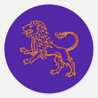 Asterisk lion zodiac sign Leo Round Sticker
