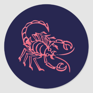 Asterisk scorpio zodiac sign Scorpio Round Sticker