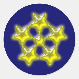 Asterisk star round sticker