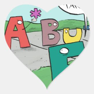 Asterisk Taker Heart Sticker