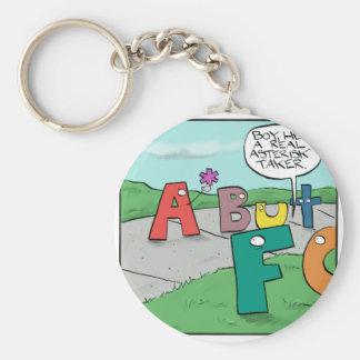 Asterisk Taker Key Ring