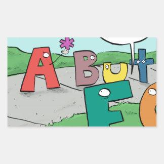 Asterisk Taker Rectangular Sticker