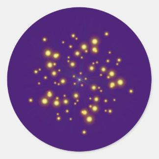 Asterisk vortex star whirlpool classic round sticker