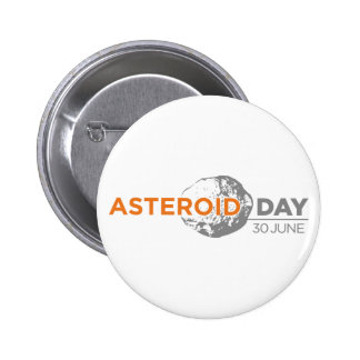 Asteroid Day badge, large 6 Cm Round Badge