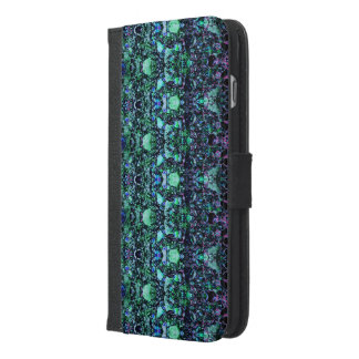 """Asteroids"":Green Phone Wallet/Folio: Choose Phone"