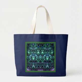 """""""Asteroids"""":Green tote bag - choose sizes/styles"""