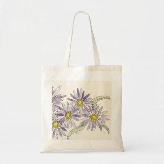 Asters bag from Nan Henke original watercolor
