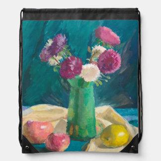 Asters Drawstring Bag
