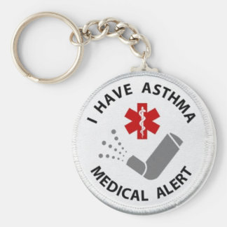 Asthma Alert Key Ring