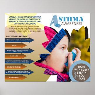 """Asthma Awareness Poster (20"""" x 16"""")"""
