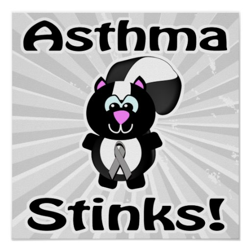 Asthma Stinks Skunk Awareness Design Posters